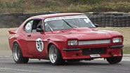 Ron Findlay racing his Capri in the Northern Muscle Cars series